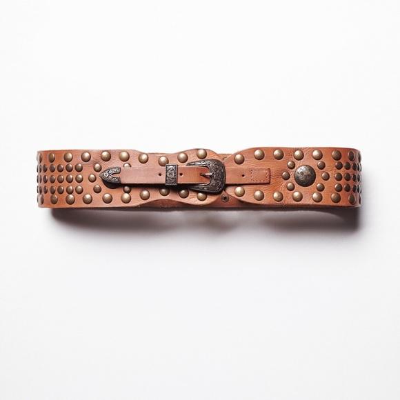 NWT Free People brown Suede Harness Metal Buckles /& Studs Adjustable O//S
